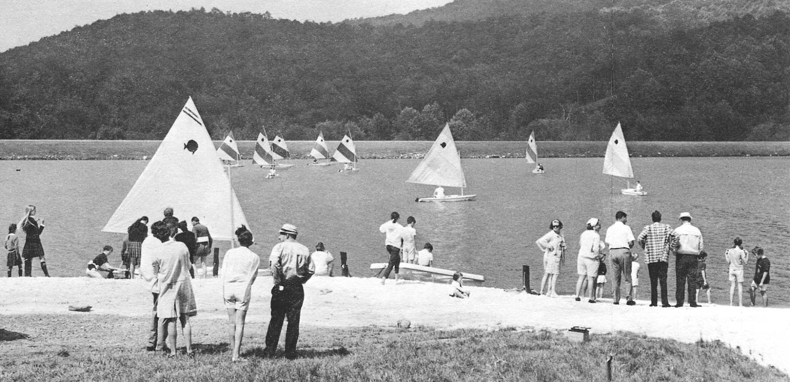 Vintage photo of the Grandfather Lake beach