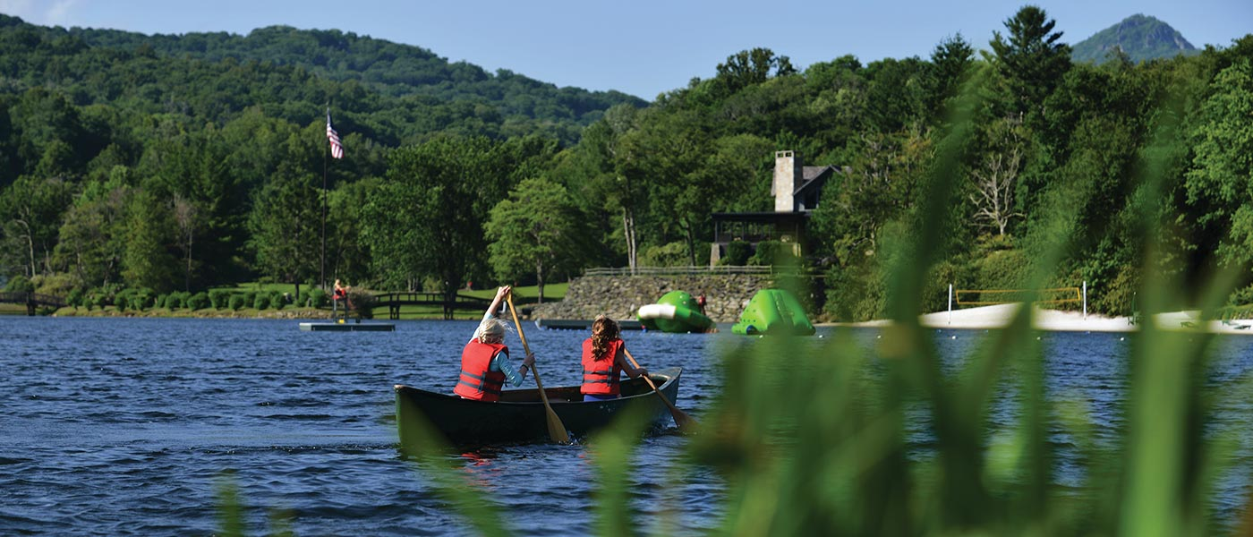 Canoeing on Grandfather Lake