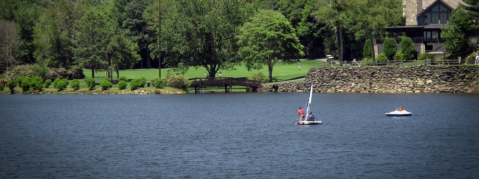 Sailing on Grandfather Lake