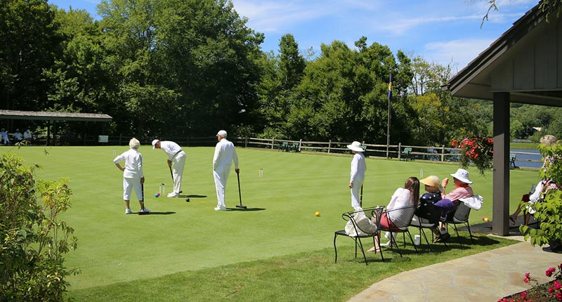 Members playing croquet at Grandfather Golf & Country Club
