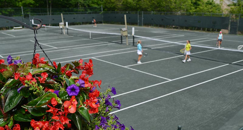Tennis courts at Grandfather Golf & Country Club